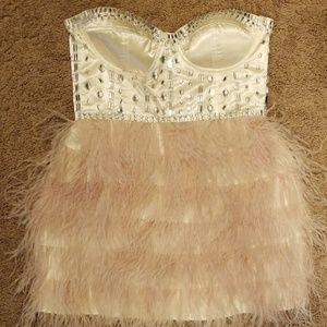 Ostrich feather dress